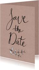 Trouwen save the date kraftprint - HR