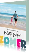 Vakantie groeten zomer letters