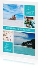 Vakantiekaart fotocollage 'Life is better in a bikini'