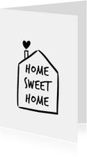 Woonkaart huisje home sweet home