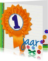 Verjaardagskaarten - 1 jaar eerst verjaardag een -BF