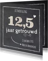 Jubileumkaarten - 12-5 huwelijk - houten cijfers