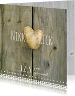 Jubileumkaarten - 12,5 jaar met aardappel hartje