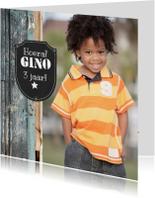 Kinderfeestjes - 14203 Uitnodiging Stoer