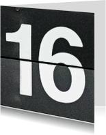 Verjaardagskaarten - 16 van omklapcijfers