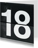 Verjaardagskaarten - 18 van omklapcijfers