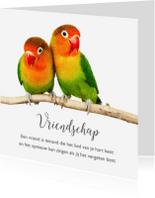Vriendschap kaarten - 2 lieve vogeltjes-isf