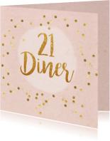 21 diner party confetti