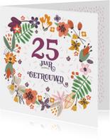 Jubileumkaarten - 25 jaar getrouwd -IR