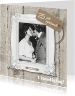 Jubileumkaarten - 25 jaar huwelijk uitnodiging