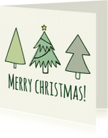 Kerstkaarten - 3-kerstbomen-en-ster