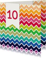 Jubileumkaarten - 3hoek jubileum 10 jaar - DH