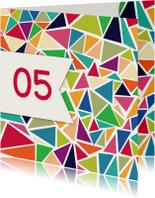 Jubileumkaarten - 3hoek jubileum 5 jaar - DH