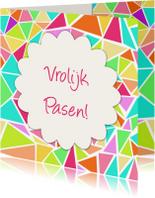 Paaskaarten - 3hoek vrolijk Pasen - DH