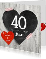 Jubileumkaarten - 40 jaar hart jublieum