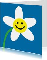 Bloemenkaarten - 4K Eenvoudig vrolijk bloemetje