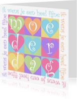 Moederdag kaarten - 4K Moederdag in pastelkleuren