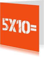 Verjaardagskaarten - 5x10=50