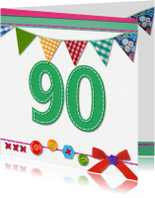 Verjaardagskaarten - 90 jaar verjaardag -BF