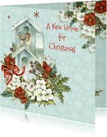 Kerstkaarten - A new home christmas