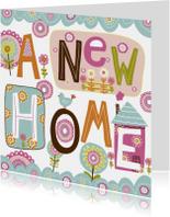 Felicitatiekaarten - A New Homefelicitatie