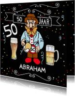 Verjaardagskaarten - Abrahampop biertje