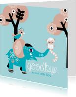 Condoleancekaarten - Afscheid kind jongen olifant
