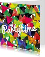 Uitnodigingen - Alies design abstract party