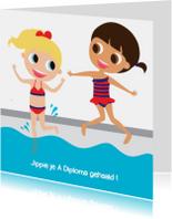 Geslaagd kaarten - Alies Design zwemdiploma