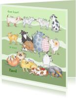 Dierenkaarten - Allemaal honden groen