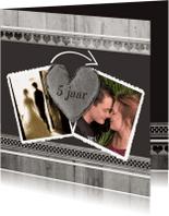 Jubileumkaarten - Antraciet Jubileum 5 jaar - BK