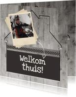 Welkom thuis kaarten - Antraciet Welkom thuis - BK