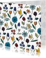 Bloemenkaarten - Aquarel Bloemen