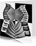 Kunstkaarten - Art kaart architectuur collage