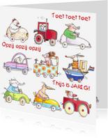 Kinderkaarten - Autootjes