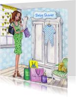 Uitnodigingen - Baby shower shop illustratie