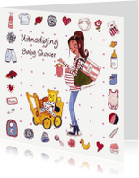Uitnodigingen - Babyshower Invitation Cartita Design