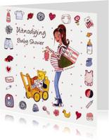 Uitnodigingen - Babyshower Invitation Cartita Design