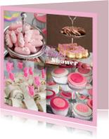 Uitnodigingen - Babyshower pink