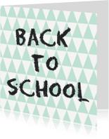 Succes kaarten - Back to school Kaart - WW