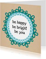 Nieuwjaarskaarten - Be happy 2