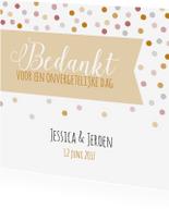 Trouwkaarten - Bedankje bruiloft - Dots