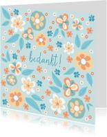 Bedankkaartjes - Bedankkaart bloemenveld
