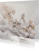 Rouwkaarten - Bedankkaart hortensia