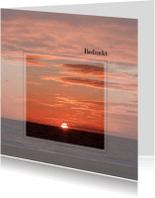 Rouwkaarten - Bedankkaart na overlijden-zonsondergang