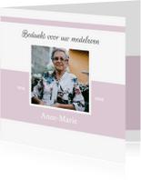 Rouwkaarten - Bedankkaart overlijden (kleur naar keuze)