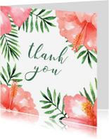 Bedankkaartjes - Bedankkaart Tropical - WW