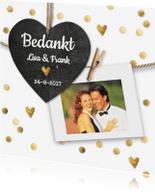 Bedankkaartjes - bedankkaartje bruiloft