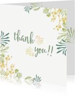 Bedankkaartjes - Bedankkaartjes Groen en geel