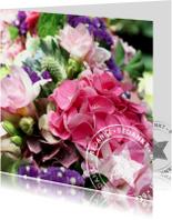 Bedankkaartjes - Bedankt bloemen met stempel